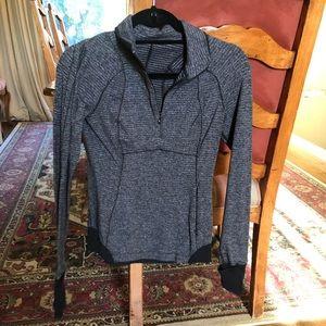 Lululemon dark gray and black zip up jacket